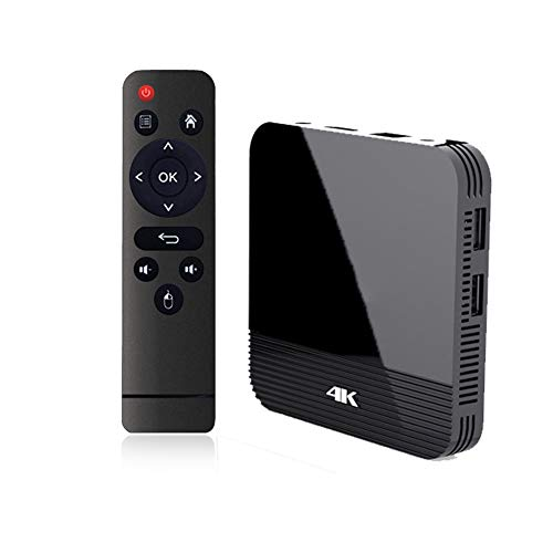 CYGJ Set Top Box TV Android TV Box 9.0 RK3228A Ultra HD 4K HDR 2 GB RAM 16 GB ROM WiFi 2.4G avec BT 4.0 WiFi 100M Ethernet avec Streaming Media Player