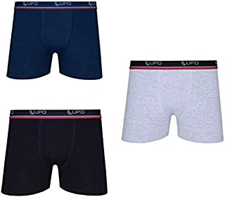 Kit Com 3 Cuecas Boxer Lupo Adulto Algodão Box Masculina Plus Size