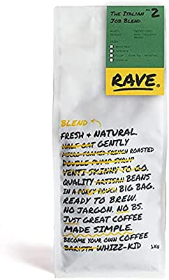 Rave Coffee - The Italian Job Blend - Freshly Roasted Whole Beans and Ground Coffee