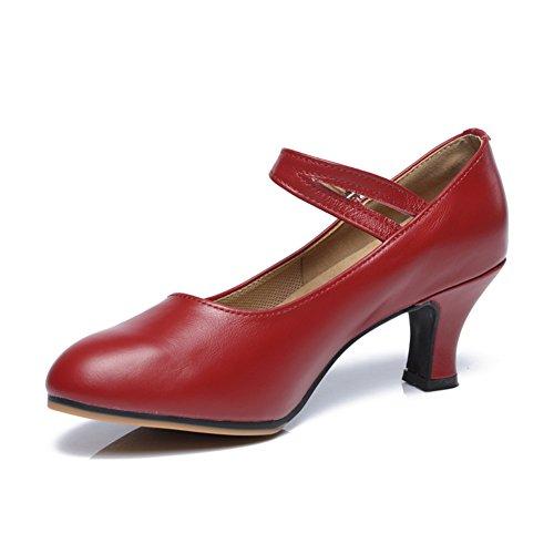 WYMNAME Mujeres Zapatos De Baile Latino,Tacones Mediados Fondo Blando Zapatos De Baile Sandalia