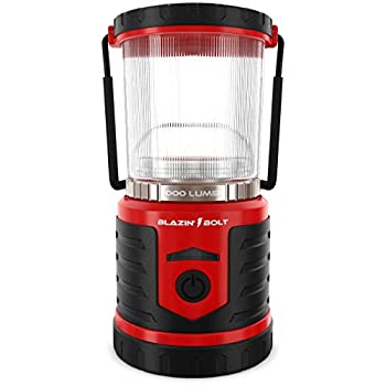 Blazin  LED Lantern Rechargeable for Power Outages |1000 Lumen | 350 Hour Runtime | Massive 12,000 mAh USB Power Bank Phone Charger | 6 Modes | Storm and Blackout  Red