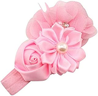 Baby Girl Flower Pearl Flower Headbands Solid Colors Hair Band Headband Hairband Hair Belt Hair Accessories