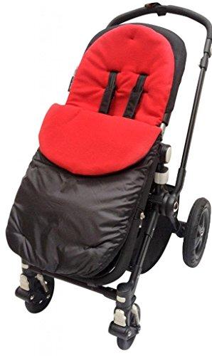 BuddyJet–Saco universal para sillas de paseo Silver Cross carrito de bebé cochecito BUGGY rojo