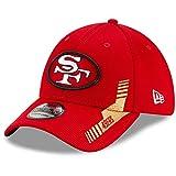 New Era NFL SAN FRANCISCO 49ers Official 2021 Sideline 39THIRTY Stretch Fit Home Cap, Größe:S/M