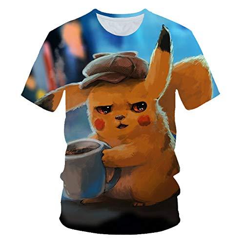 T-Shirt Männer/Frauen/Pokemon Im Freien Freizeit-bequemen Halbarm S-6XL G-L