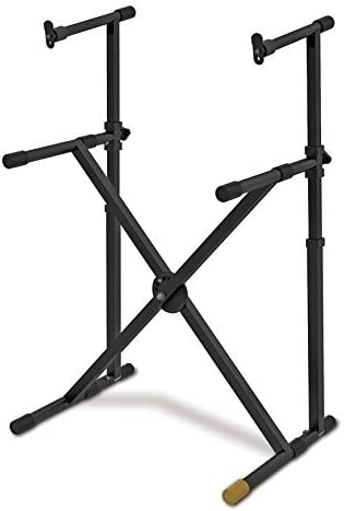 Hercules Large discharge sale EZ-Lock Bombing free shipping Double Tier X Keyboard Stand