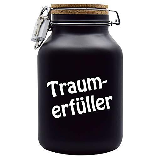 Spardose Traumerfüller Geld Geschenk Idee Schwarz XXL