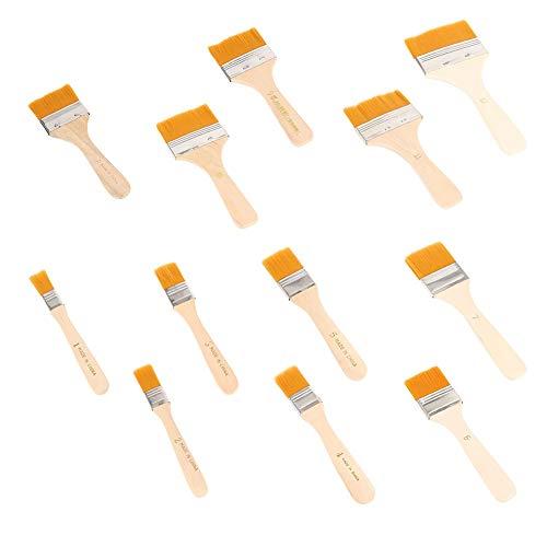 Basting Brush - 12 Stks Penseel Set Kit voor Huishoudelijke Keuken Bakken BBQ Barbecue Schoonmaken Olieverfschilderij