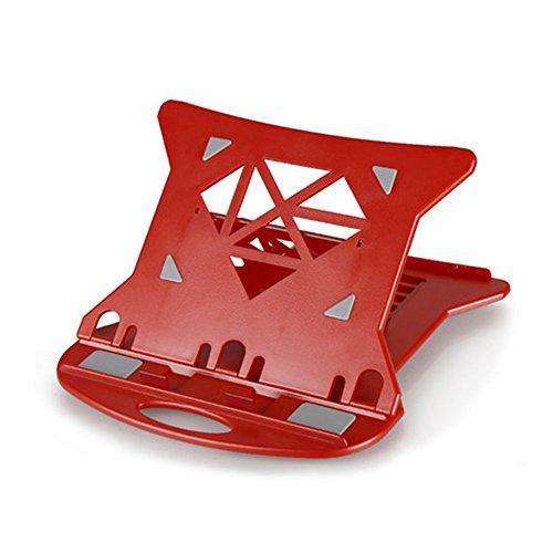 Laptop ständer Verstellbare Laptop-Ständer Mit 7 Verstellbaren Winkeln Design Tragbare Faltbare Ergonomische Desktop Notebook Ständer Halter Für Laptops Bis Zu 17 Zoll, Mehrere Farbe (Farbe : Rot)