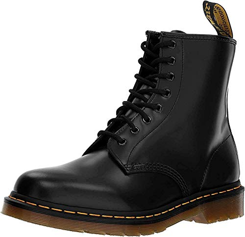 Dr. Martens 1460 - Botas Militares de Mujer, Negro (Black Smooth Leather), 42 EU