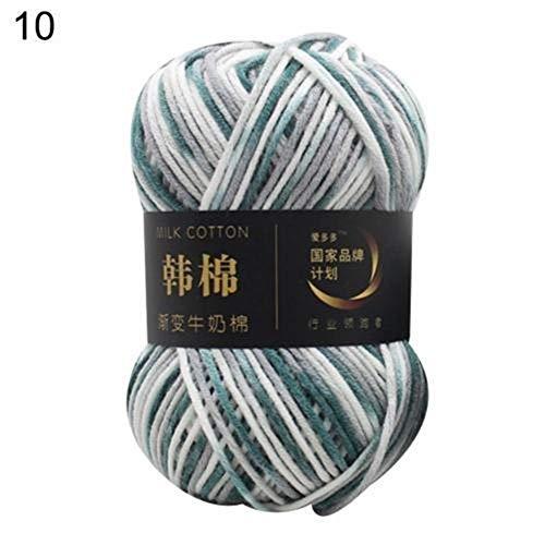 Mrjg Rosen 115m Baumwolle Strickgarn Häkelgarn for Strickgarn Warm Chunky Garn for Kinder strickte Garn for Decke Sweater weiß (Color : 10)