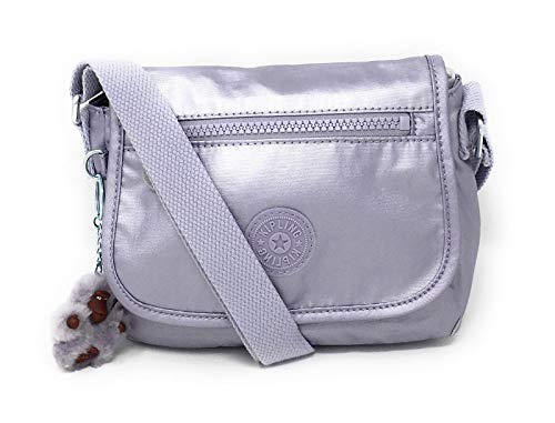 Kipling Sabian Alabaster Crossbody Mini Bag (One Size, Frosted Lilac Metallic)
