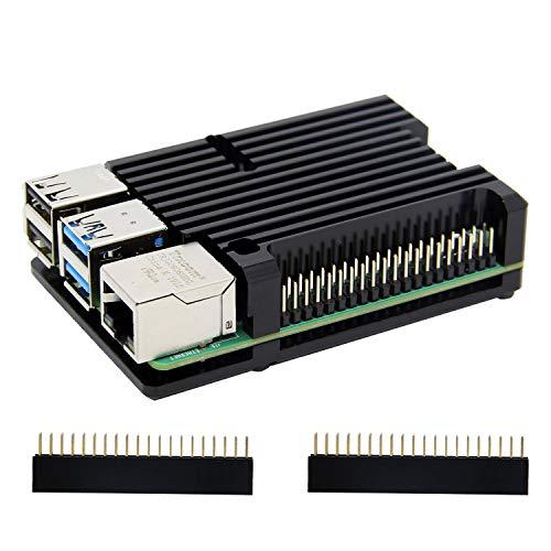 Carcasa de disipador térmico Raspberry Pi 4 con ventilador Dual,...
