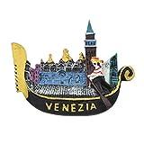 Kesheng Imán para nevera de resina 3D de Venice Ship para regalo de colección turística, 1 unidad
