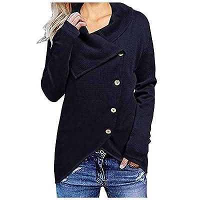 Coat Women's Casual Outdoor Overcoat Solid Beautiful Jacket(Navy,M)