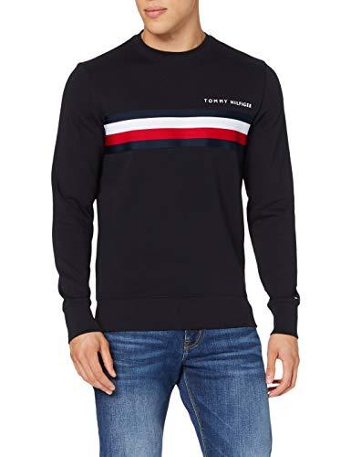 Tommy Hilfiger Herren Hilfiger Logo Sweatshirt Pullover, Blue, X-Small