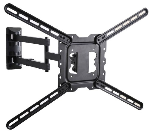 VideoSecu 24' Long Arm TV Wall Mount Low Profile Articulating Full Motion Cantilever Swing Tilt wall bracket for most 22' to 55' LED LCD TV Monitor Flat Screen VESA 200x200 400x400 up to 600x400mm MAH