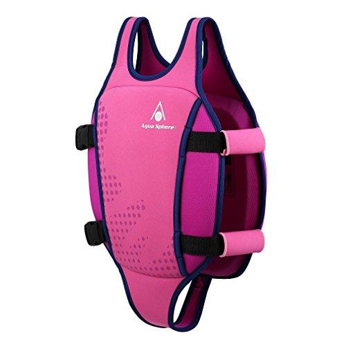 Aqua Sphere Unisex Jugend Swim Vest Schwimmweste, Pink, M (2-3Y)