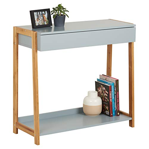 Hartleys Grey and Bamboo Console Table