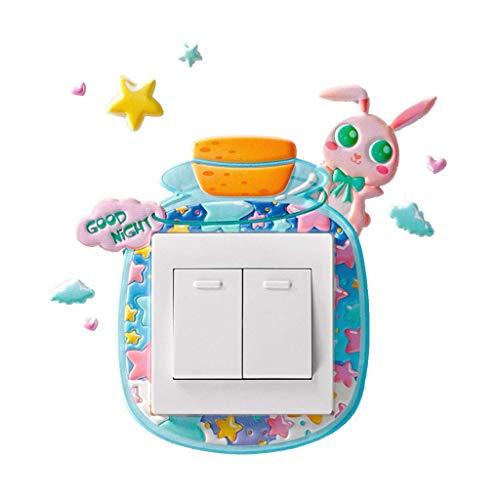Zeagro Lichtschalter-Aufkleber für Kinderzimmer, 1 Stück