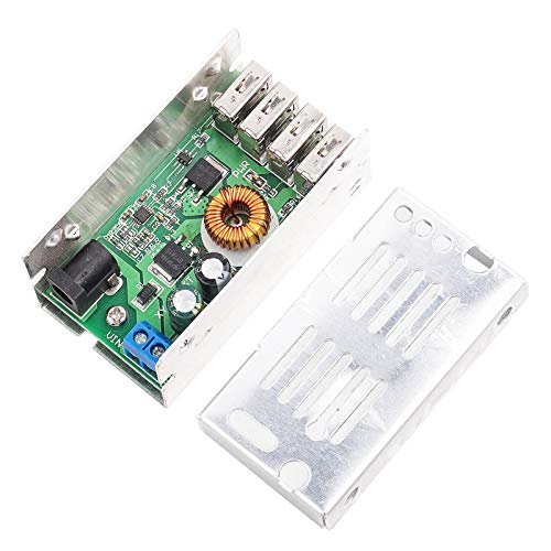 Agatige Módulo de descompresión DC Módulo de descompresión Convertidor de voltaje Step-Down Módulo de carga USB Componente electrónico USB