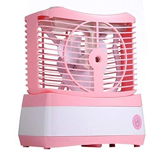 Family Needs Kleine ventilator Portable USB Charging Spray Office Desktop Air Conditioning Fan Gezicht Water luchtbevochtiger Fan (Color : Pink)