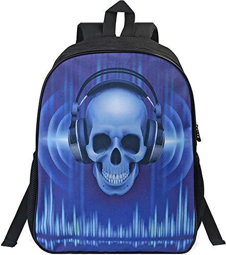Vicloon Schultasche für Kinder, Kinderrucksack mit Totenkopfmotiv, Junge kindergartenrucksack, Oxford Tuch Rucksack für Outdoor-Aktivitäten, Schule, Camping, Tourismus - Blau