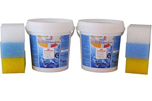 AQUA CLEAN PUR Ceramico Kristall Eurocleaner mit Abperleffekt 2x 1,5kg