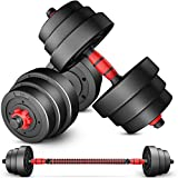 TANPAUL Adjustable Weights Dumbbells Set,44LB Free Weights Dumbbells Set for Men and Women with...