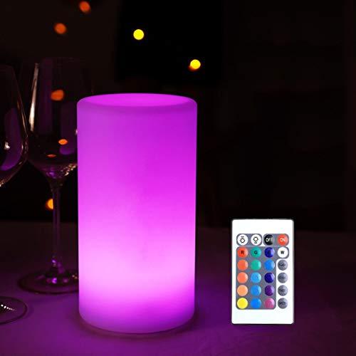 Lámpara de Mesa Cilíndrica Flotante LED Luz de Jardín Recargable IP65 a Prueba de Agua, Luz de Ambiente RGB, Lámpara de Humor de Luz Nocturna LED Regulable (Color : 20CM/7.9IN)