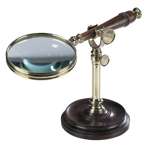 Authentic Models Magnifying Glass with Stand, Brnzd