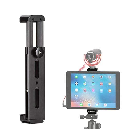 Tablet Tripod Mount, ULANZI Metal iPad Tripod Adapter (7.9''-12.9''), iPad Pro Tripod Holder With Cold Shoe, Tablet Tripod Holder for iPad Pro/iPad/iPad Air/iPad mini/Samsung Lenovo Huawei Tablet