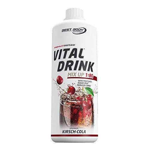 Best Body Nutrition Vital Drink Kirsch-Cola, Getränkekonzentrat, 1000 ml Flasche