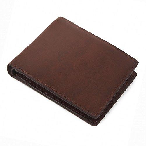 (ラファエロ) Raffaello 一流の革職人が作る 古代の革素材をエイシェントロイヤル製法で染色したメンズ二つ折り財布 (コルクヴィンテージ)