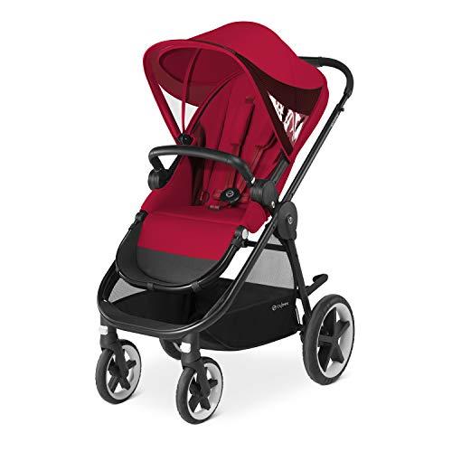 CYBEX Gold Kinderwagen Balios M, Mit wendbarem Komfortsitz und Schutzbügel, Ab 6 Monate bis 17 kg (ca. 4 Jahre), Rebel Red