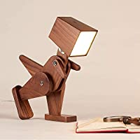 SKAFA Wooden Dinosaur lamp , for Computer and nightstand, for Bedroom and Office, Ideal for Children Study Lamp (Brown)
