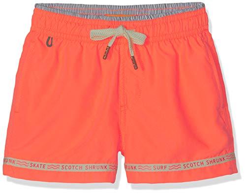 Scotch & Soda Shrunk Jungen Sporty fit Swimshorts with 'Magic Print' Badeshorts, Orange (Electric Orange 209), 128 (Herstellergröße: 8)
