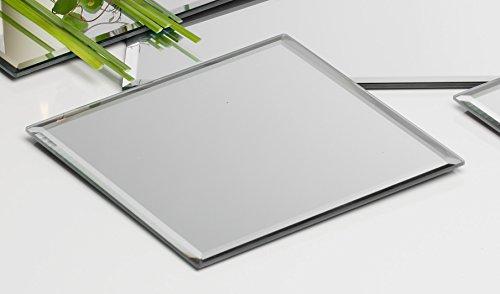 Sandra Rich Glasplatte Spiegelplatte Mirror eckig 0,5 cm Ø 18,0 x 18,0 cm