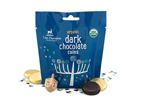 Lake Champlain Kosher Hanukkah Dark Chocolate Gelt Coins Gift Bag, 23 Pieces, 5.8 Ounces