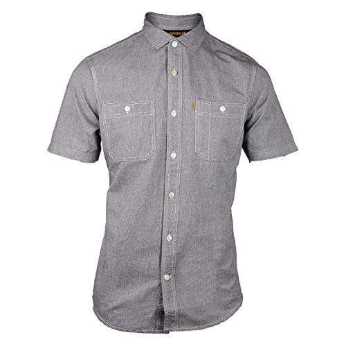 Caterpillar Mens Fundamental Short Sleeved Shirt Grey