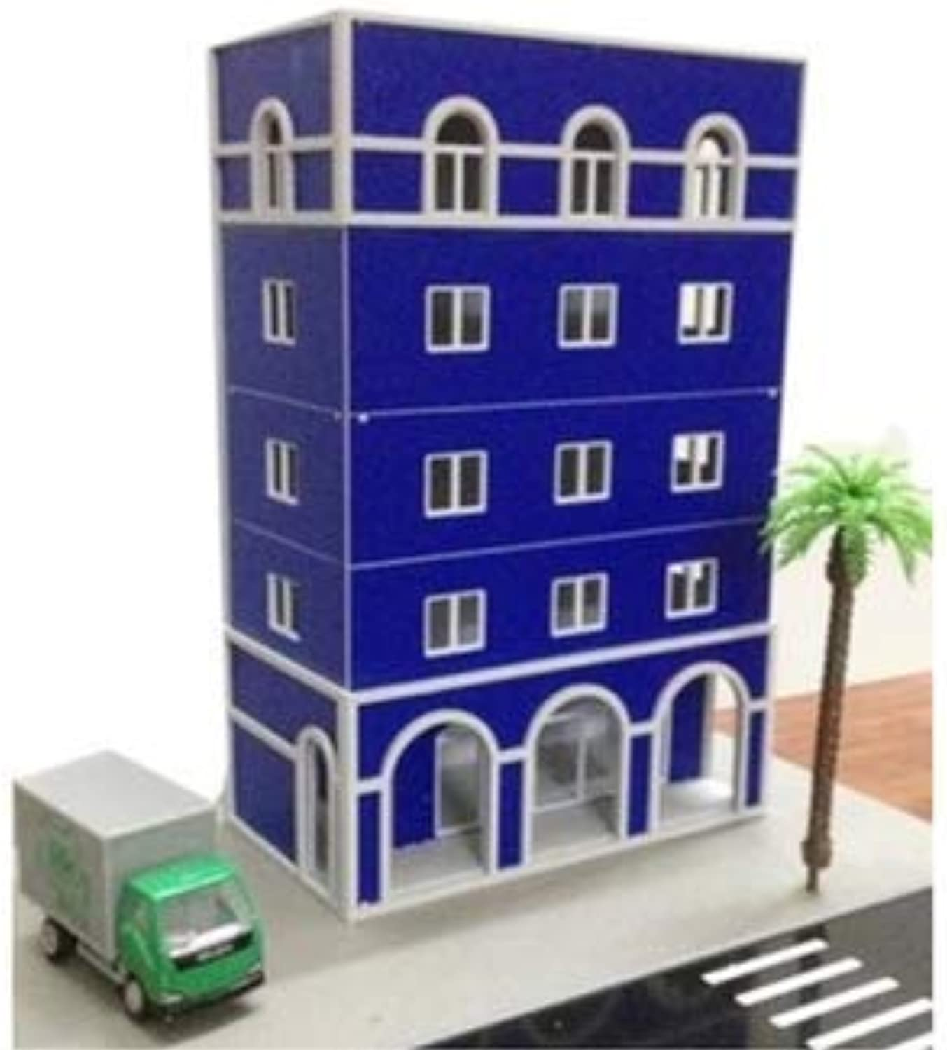 Dolls & Stuffed Toys & Miniature  1 87 HO Railway blueee Buildings Outland Models for Building