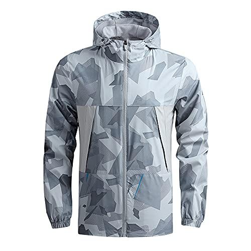 Chaqueta Hombres Casual Deportes Al Aire Libre Capa Impermeable Transpirable Primavera Delgada Hombres, gris, M