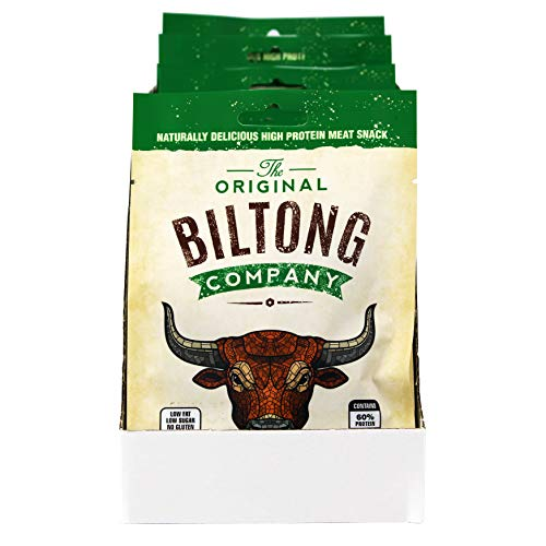 The Original Biltong Company Garlic Flavour Beef Biltong Box of 12 x 30g