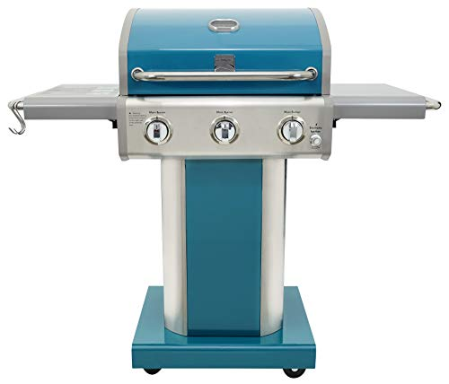 Kenmore PG-4030400LD-TL-AM 3 Burner Outdoor Patio Gas BBQ Propane Grill, Teal Grills Propane