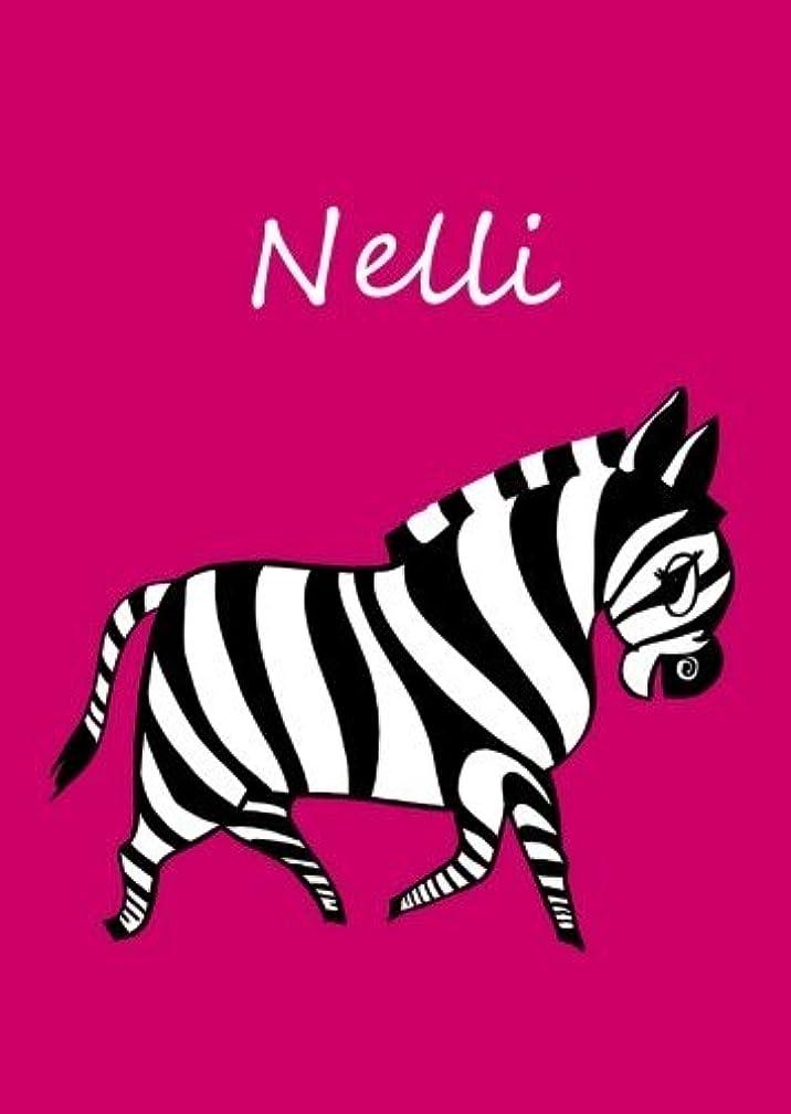 ドライブ残酷雇用者Nelli: personalisiertes Malbuch / Notizbuch / Tagebuch - Zebra - A4 - blanko
