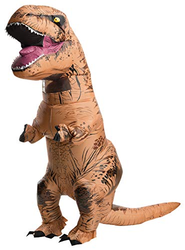 Rubies Adult The Original Inflatable Dinosaur Costume, T-Rex with Sound, Standard