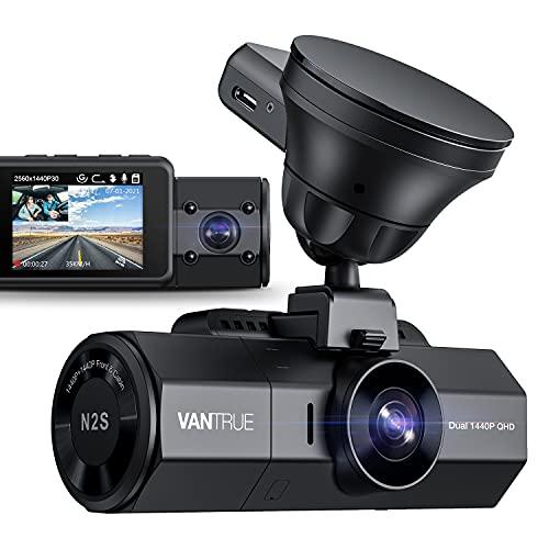 Vantrue N2S 4K Uber Dual Dash Cam with GPS, 1440P Front...