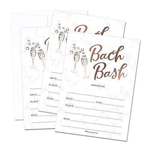 Rose gold Bachelorette Party Invitations