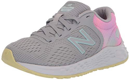 New Balance Kid's Fresh Foam Arishi V2 Lace-Up Running Shoe, Light Aluminum/Pink Lemonade, 13 M US Little Kid (4-8 Years)