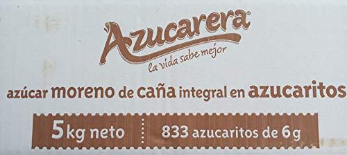 Azúcar moreno de caña integral en azucaritos de 6 g. (833 sobrecitos) / 5 Kg.